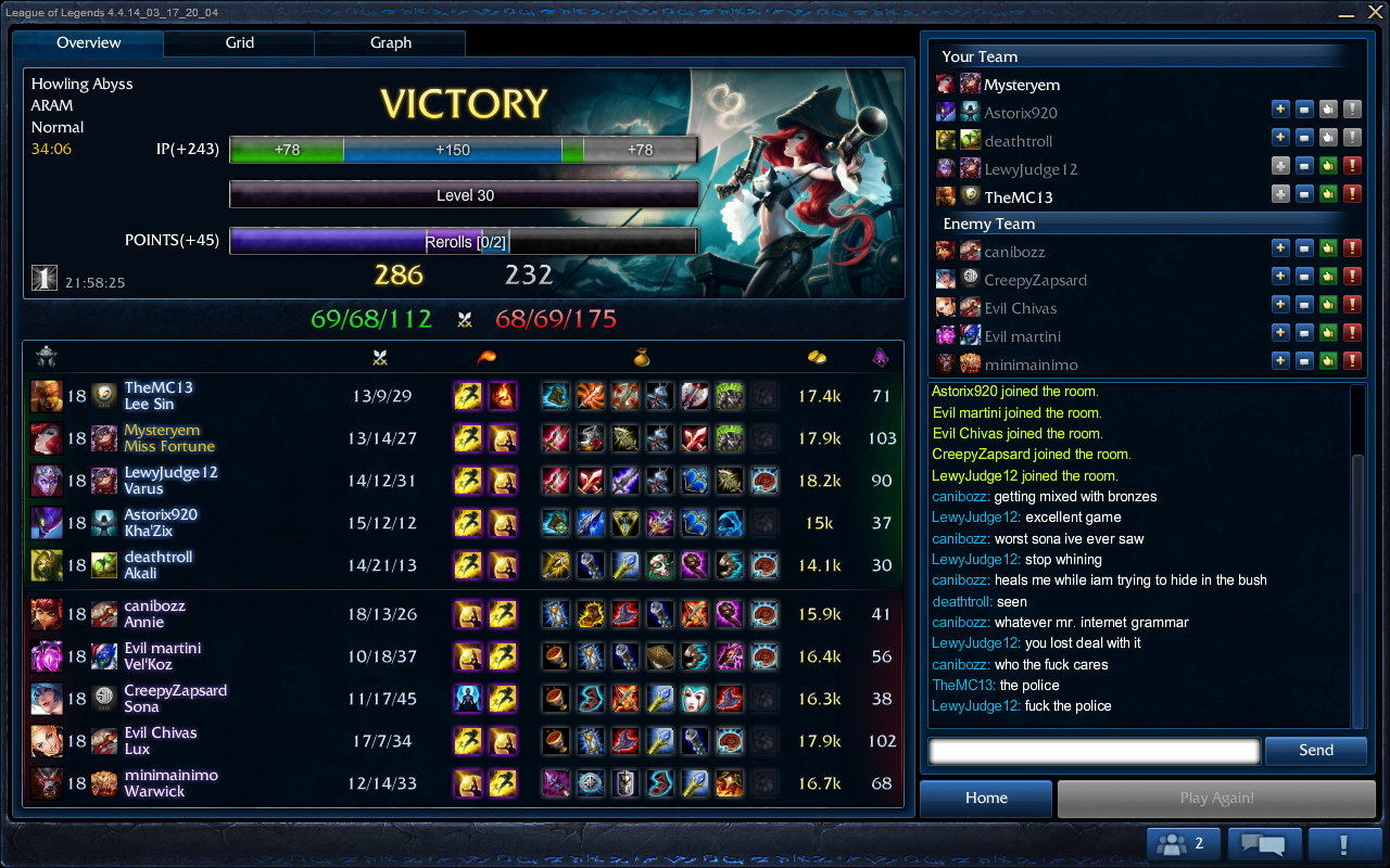lol matchmaking aram