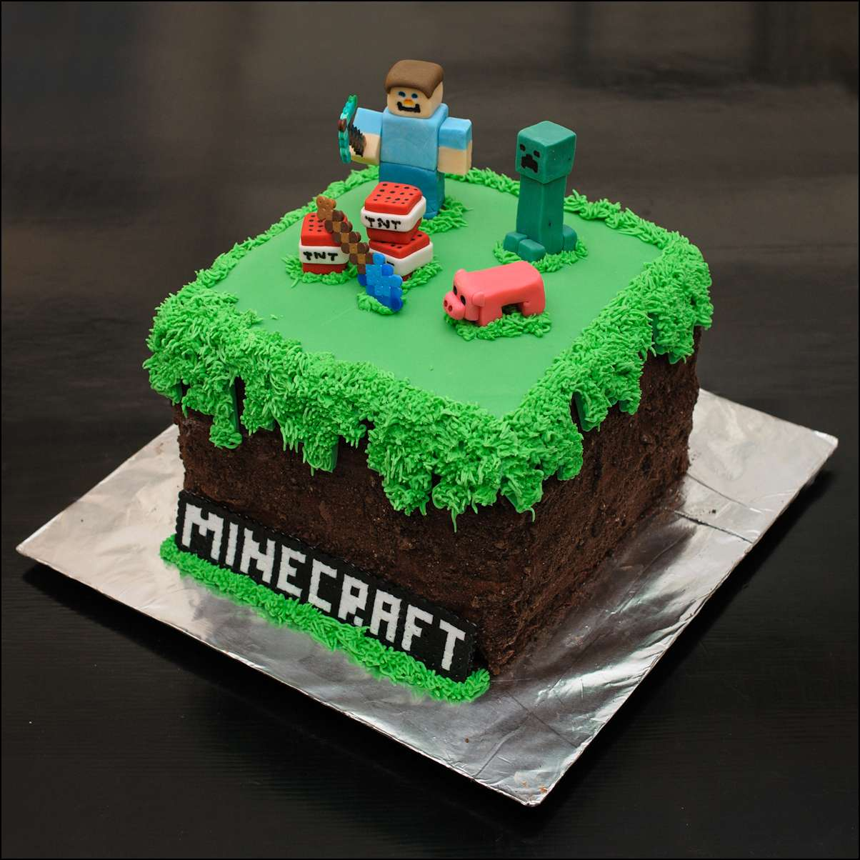 детский торт майнкрафт #2