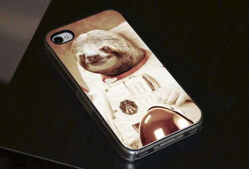 sloth astronaut phone case - 500×340